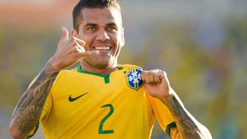 Бразилец Дани Алвес стал самым успешным футболистом в истории