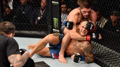Хабиб Нурмагомедов победил Дастина Порье и защитил чемпионский пояс UFC: видео
