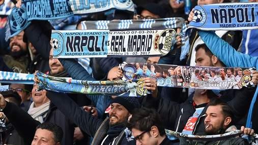 """Фанаты """"Наполи"""" устроили беспорядки перед матчем с """"Ливерпулем"""" в Лиге чемпионов: видео"""