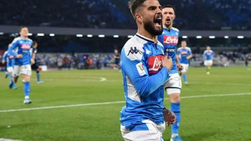 Феерия в матче Наполи – Лацио: чудо-гол, незабитый пенальти, два удаления и четыре штанги