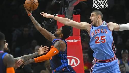 """Михайлюк провел очередную уверенную игру в НБА, """"Оклахома"""" разбила команду Леня – видео"""