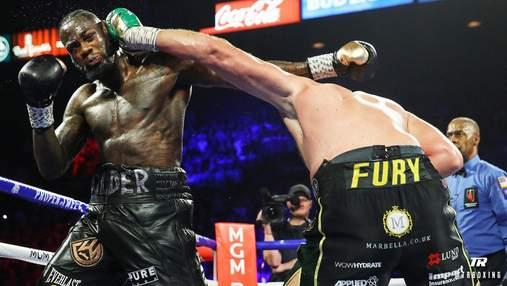 Як звучить потужний удар Ф'юрі, після якого Уайлдер побував у нокдауні: відео