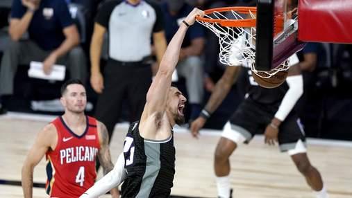 Український баскетболіст Лень зробив ефектний данк у матчі НБА: відео