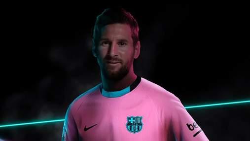 """Мессі взяв участь у представлені третього комплекту форми """"Барселони"""": вона рожева – фото"""