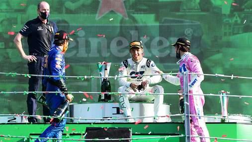 Формула-1: неизвестный поставил 20 центов на победу Гасли и выиграл 33 тысячи евро