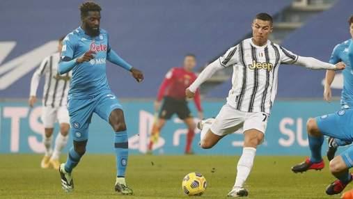Ювентус благодаря голам Роналду и Дибалы обыграл Наполи и закрепился в зоне ЛЧ: видео