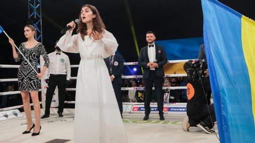 До мурашок: Jerry Heil виконала гімн України на поєдинку боксера Берінчика – відео