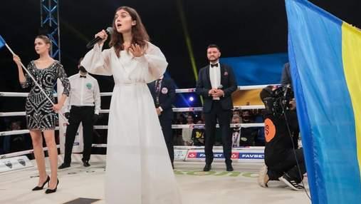 До мурашек: Jerry Heil исполнила гимн Украины на поединке боксера Беринчика – видео