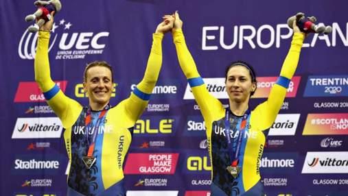 Украинские велосипедистки завоевали бронзу в командном спринте на чемпионате Европы