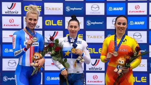 Украинская ракета: Елена Старикова – чемпионка Европы по велотреку