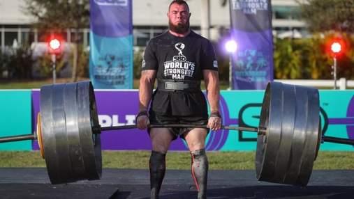 Українець Новіков завоював титул найсильнішої людини планети: фото, відео