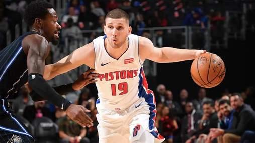 Михайлюк стал лучшим в контрольном матче Детройта в НБА
