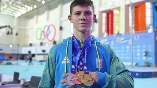 5 золотих медалей для України: 17-річний Ковтун тріумфував на чемпіонаті Європи з гімнастики