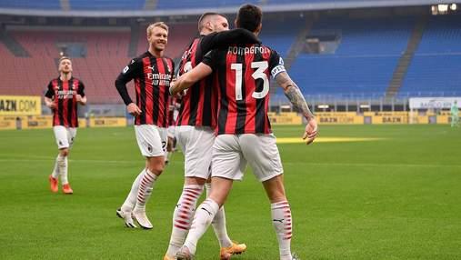 Милан забил самый быстрый гол в истории Серии А и победил Сассуоло: видео