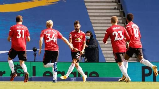 Манчестер Юнайтед переміг Лідс з тенісним рахунком і наблизився до Ліверпуля: відео
