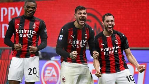 Милан на последней минуте встречи вырвал победу над неуступчивым Лацио: видео