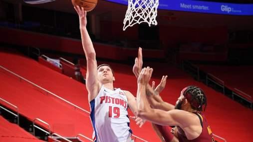 Українець Михайлюк провів результативний матч у НБА: Детройт програв у двох овертаймах