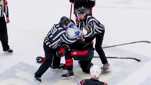 Хокеїсти Сокола та Кременчука влаштували бійку під час матчу: відео