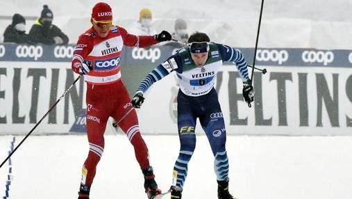 Фінський лижник розповів, чи провокував він росіянина Большунова перед фінішем