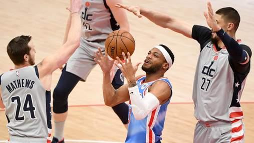 Вашингтон Леня завдяки шаленому камбеку вирвав перемогу в НБА