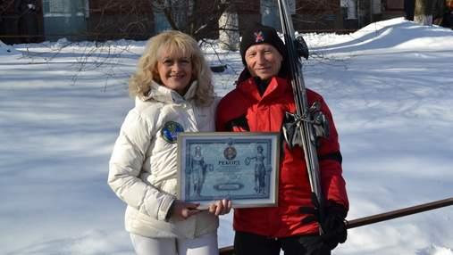 Украинец в 87 лет установил лыжный рекорд в Украине