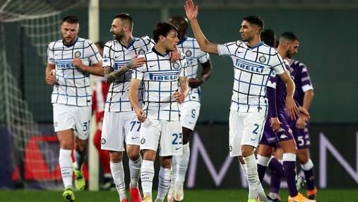 Интер уверенно победил Фиорентину, став лидером Серии А: видео