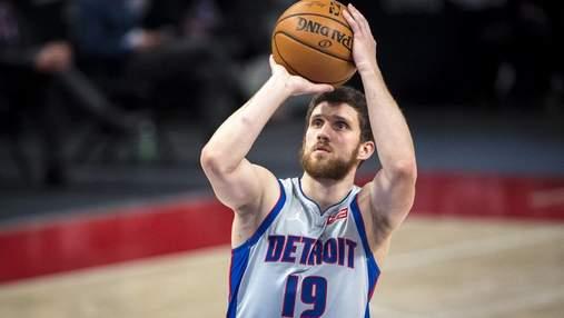 Результативність Михайлюка принесла ювілейну перемогу Детройту в НБА