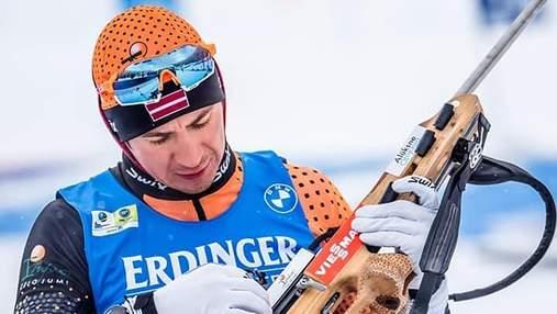 Титулований біатлоніст Расторґуєвс відсторонений від гонок