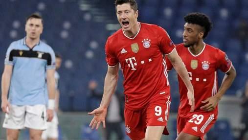 Бавария нанесла поражение Лацио и сыграет в 1/4 финала Лиги чемпионов: видео