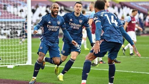 Арсенал вирвав нічию у Вест Хема Ярмоленка, програючи 0:3 у першому таймі: відео