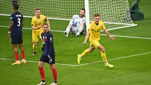 Гол сборной Украины в ворота Франции неожиданно переписали на Сидорчука: видео