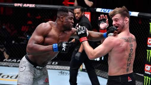 Нганну эффектно нокаутировал Миочича и отобрал у него чемпионский пояс на UFC 260: видео
