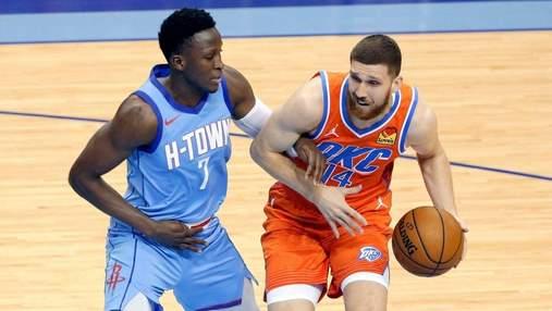 Оклахома проиграла в НБА, Михайлюк впервые вышел в старте и провел яркий матч: видео