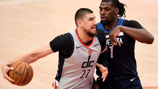 Вашингтон прервал победную серию в НБА, Лень провел результативный матч: видео