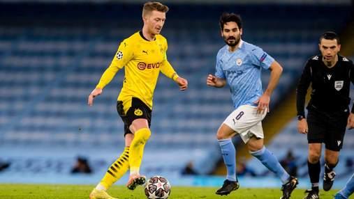 МанСити на последней минуте матча вырвал победу у Боруссии в четвертьфинале Лиги чемпионов