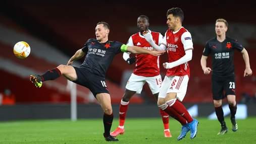 Арсенал на последней минуте упустил победу над Славией в 1/4 финала Лиги Европы: видео