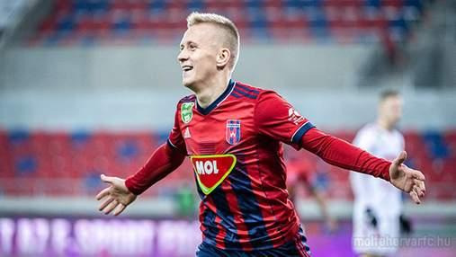 Петряк отличился роскошным дублем в Венгрии и отпраздновал голы в стиле Роналду: видео