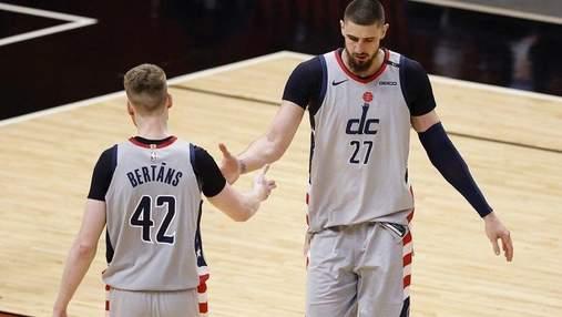 Лень набрал 3 очка в победной игре за Вашингтон в НБА: видео