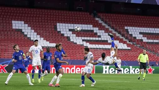 Как игрок Порту в роскошном прыжке через себя забил гол Челси в Лиге чемпионов: видео