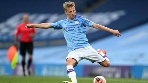 Украинец Зинченко выйдет в стартовом составе Манчестер Сити в матче Лиги чемпионов