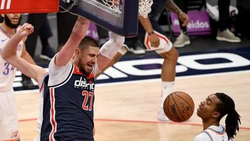 Украинское дерби в НБА: Вашингтон Леня одолел Оклахому Михайлюка