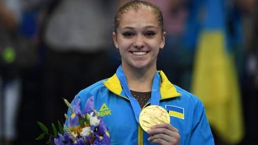 17-летняя украинка Бачинская сенсационно выиграла медаль чемпионата Европы по гимнастике