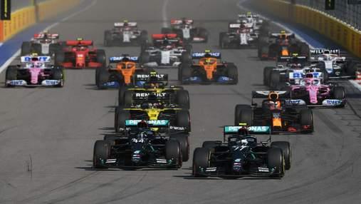 Формула-1 офіційно затвердила проведення трьох спринтерських гонок у сезоні-2021