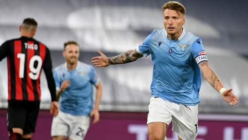 Милан без Ибрагимовича разгромно проиграл Лацио и покинул зону Лиги чемпионов: видео