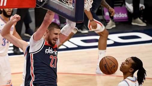 Украинец Лень принес Вашингтону победу над Лейкерс в матче НБА: видео