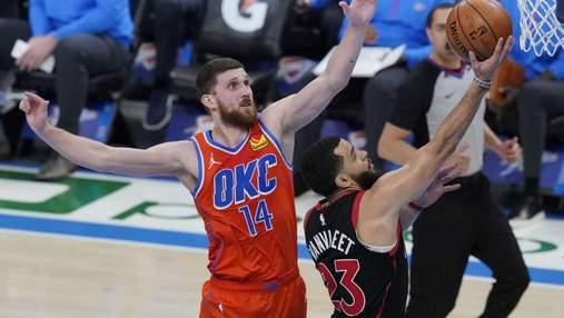 Результативна гра Михайлюка не допомогла Оклахомі уникнути поразки в матчі НБА: відео