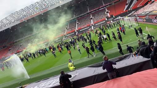 Фанаты Манчестер Юнайтед прорвались на стадион перед матчем с Ливерпулем: фото и видео