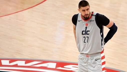 Украинец Лень помог Вашингтону одержать важную победу в НБА: видео