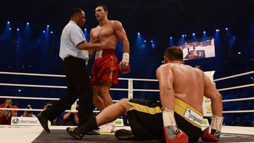 8 років тому Кличко жорстко нокаутував  Франческо П'янету і виграв ювілейний 60 бій: відео