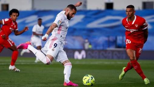 Реал чудом спас ничью в матче с Севильей, сохранив шансы на чемпионство: видео